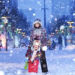 「楽しい雪の日」